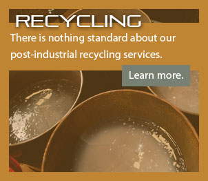 There is nothing standard about our post-industrial recycling services. We create a custom plan for every customer.